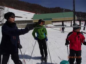 2日目はスキー