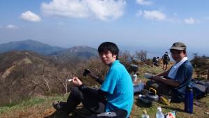 塔ノ岳でお昼ごはん