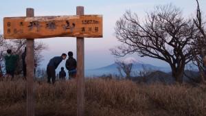 丹沢山から見た、早朝の富士山
