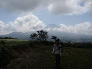 カブ隊のハイキング。富士山がきれいに見えた!